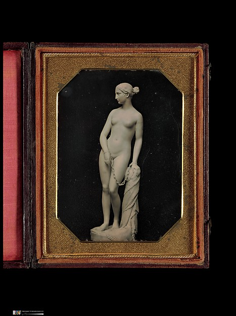 This is What Unknown and [Hiram Powerss Sculpture of the Greek Slave] Looked Like  in 1850