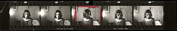 [Cut Contact Sheet of 35mm Negative Strip: Virginia Hubbard (5)]