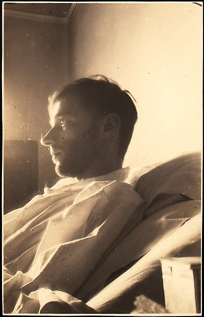 [Self-portrait in New York Hospital (Left Profile), New York City]