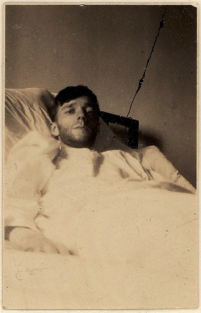 [Self-portrait in New York Hospital Bed, New York City]