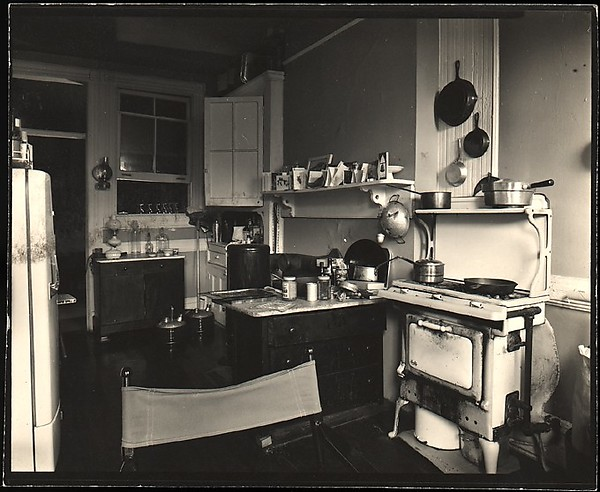 [Interior View of Walker Evans's Apartment at 441 East 92nd Street Showing Kitchen Area, New York City]