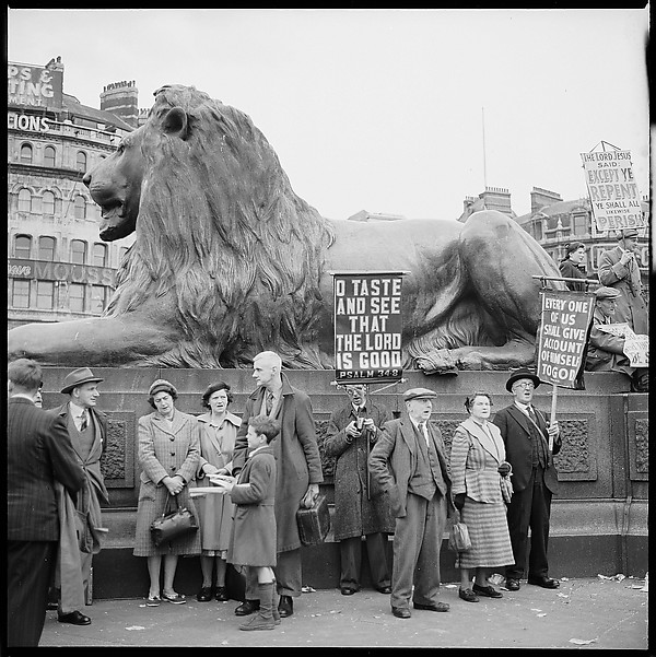 [12 Views of Demonstration in Trafalgar Square, London]