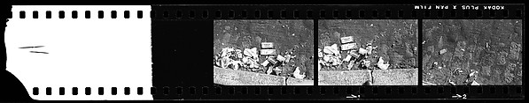 [40 Studies of Street Debris, Manhole Covers, and Trash Bins, New York City]