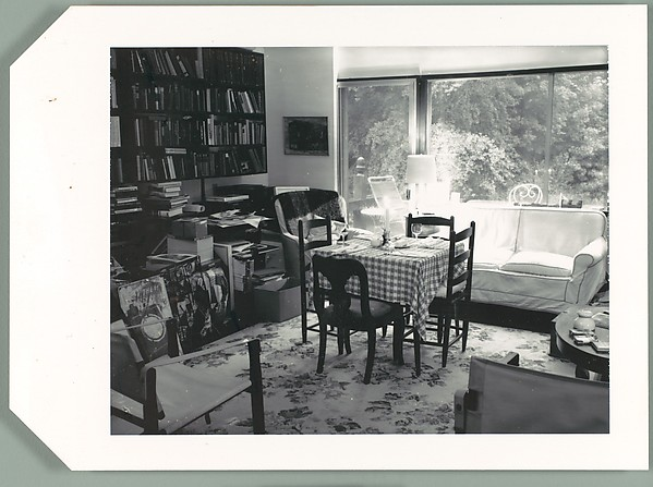 [Set Dinner Table in Walker Evans' Living Room, Old Lyme, Connecticut]