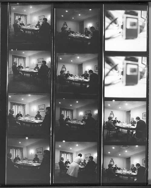 "[2 Original Annotated Contact Sheets Relating to ""Foundation Heads"" Project]"