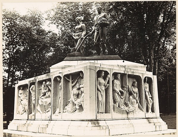 "[""The Early Settlers of New England"" (Maurice Sterne, ca. 1930), Monument in Elm Park, Worcester, Massachusetts]"