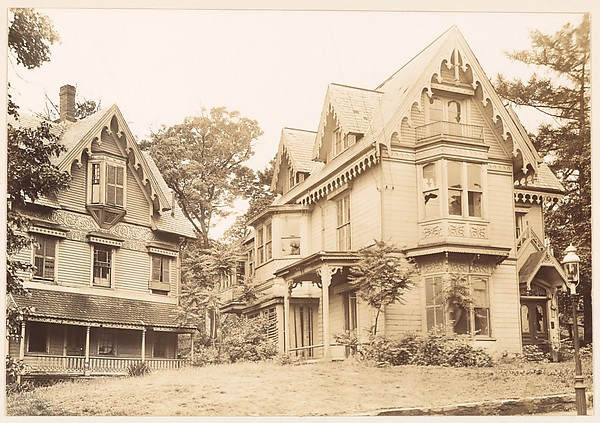 [Two Gothic Revival Houses with Decorative Vergeboards in Gables, Dorchester, Massachusetts]