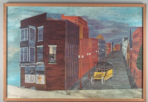 "[Poster of Ben Shahn Painting, ""Ohio Magic""]"
