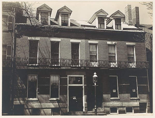 [Row of Greek Revival Town Houses with Rooms to Let, Probably Boston Vicinity, Massachusetts]