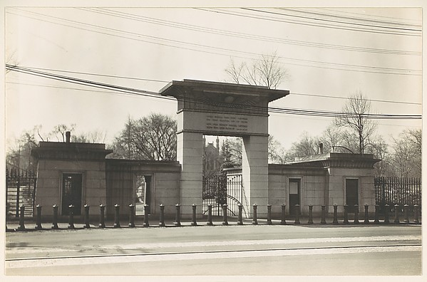 [Egyptian Revival Gate of Mt. Auburn Cemetery, Cambridge, Massachusetts]
