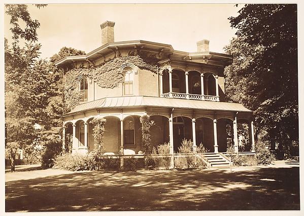 [Brick Italianate Revival House with Full-Façade Porch, Northampton, Massachusetts]