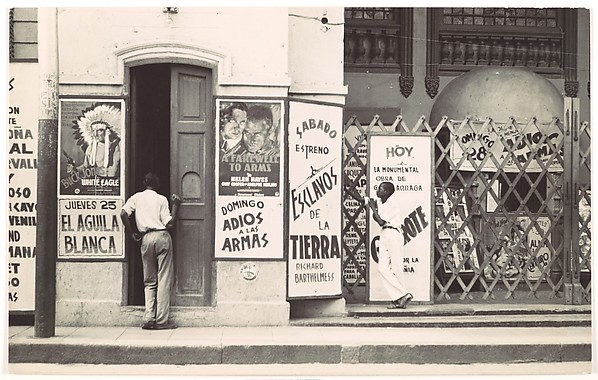 "[Cinema Entrance with Movie Poster (""A Farewell to Arms""), Havana]"