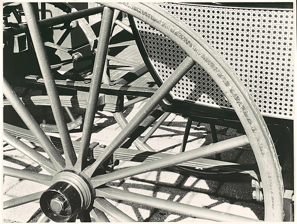 [Detail of Wheel Spokes and Chair Caning on Carriage in the Collection of Oliver Jennings]
