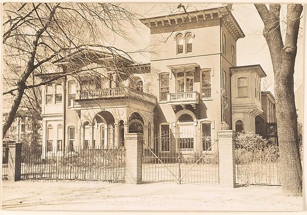 [Italianate Revival House Behind Iron Gate, Brookline, Massachusetts]