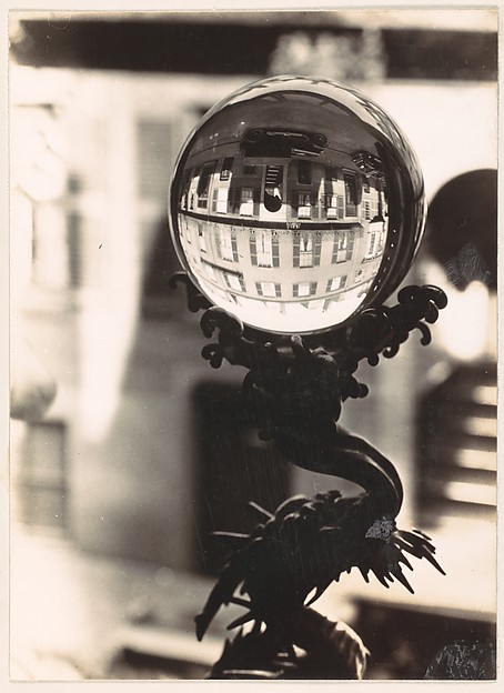 [Crystal Ball on Sill, West Cedar Street, Beacon Hill, Boston, Massachusetts]