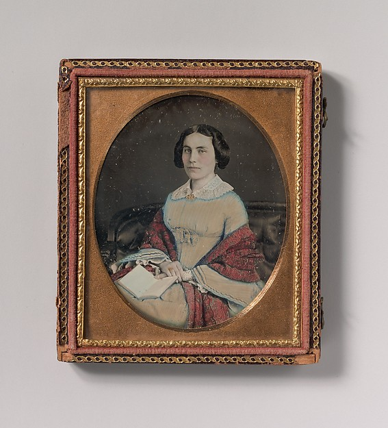 This is What Unknown and [Seated Young Woman Wearing a Shawl Holding an Open Book in her Lap] Looked Like  in 1850