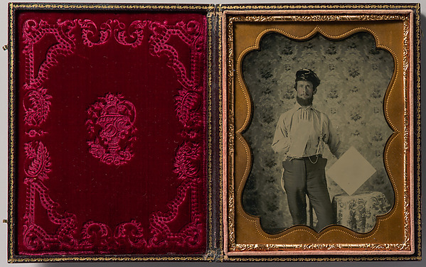 Fascinating Historical Picture of Unknown with [Plasterer in Oilskin Hat] in 1850