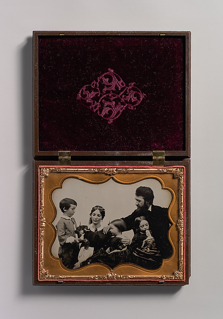 Fascinating Historical Picture of Unknown with [Mother and Father with Three Children a Boy and Two Girls] in 1850
