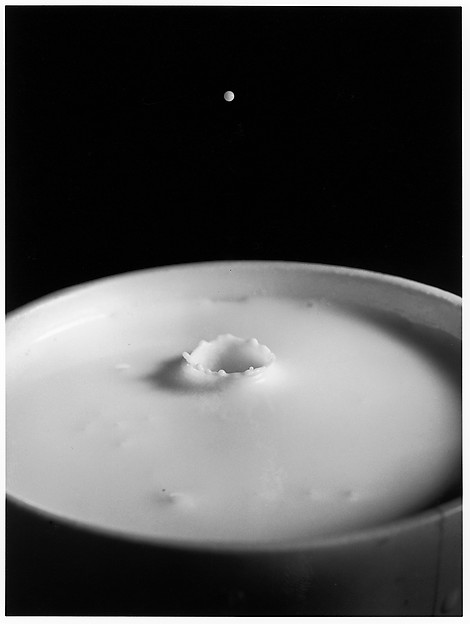 [Milk Drop Falling Into Reservoir of Milk (1/9)]