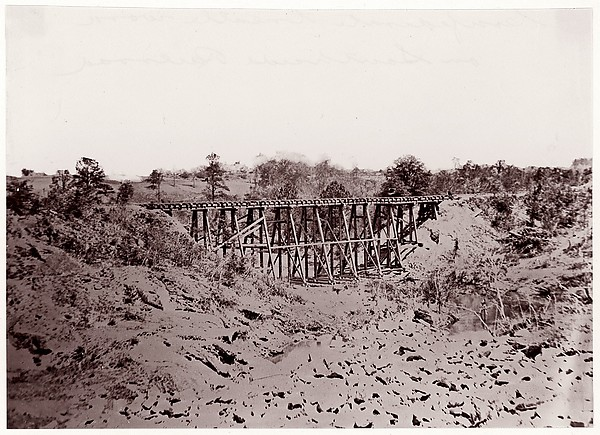 Confederate Trestle Work on Alexandria Railroad