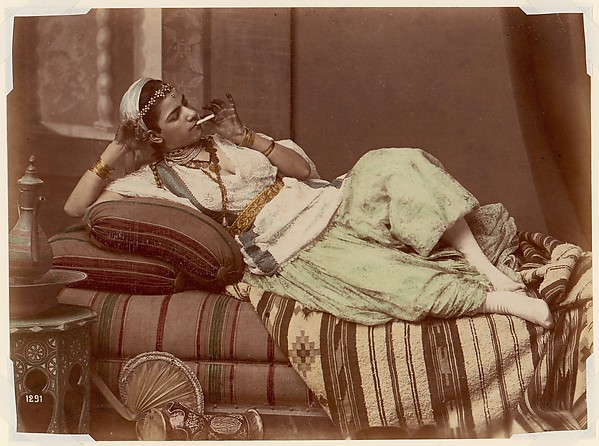 [Reclining Woman Smoking]