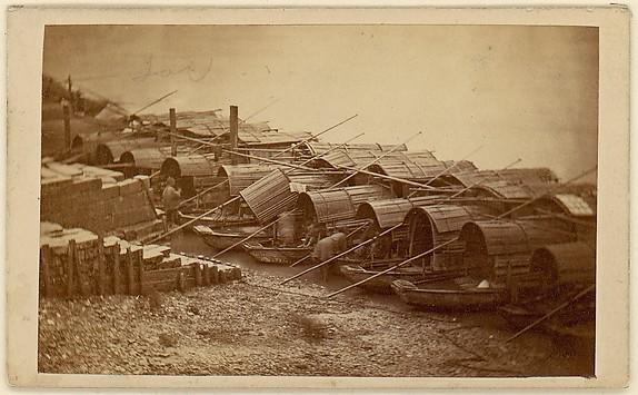 [Boats Along Riverbank]
