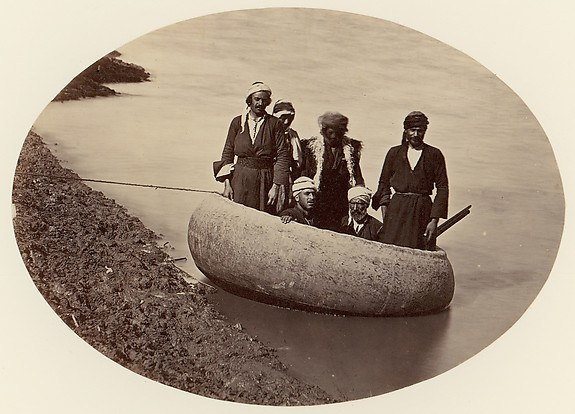[Six Men in a Round Boat, Baghdad]
