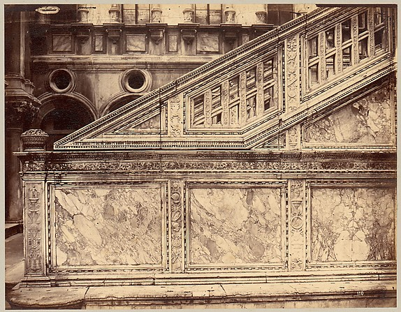 [Marble Stairway Decorated with Architectural Sculpture]