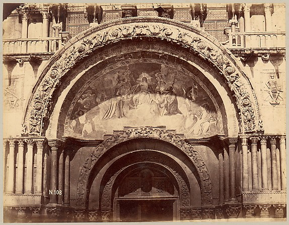 [Church Portal with Mosaic of Christ Enthroned in Majesty]