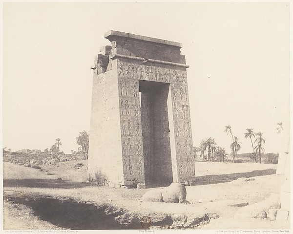 Karnak (Thèbes), Grande Porte du Sud Vue du Point C