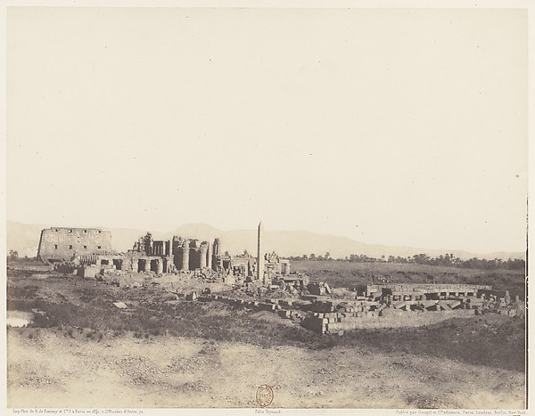 Karnak (Thèbes), Vue Générale des Ruines Prise du Sud-Est, en T
