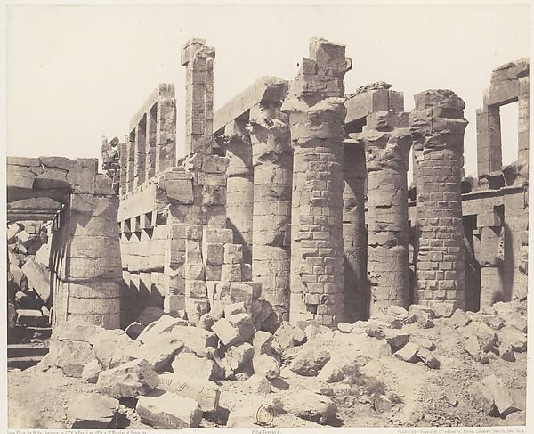 Karnak (Thèbes), Palais - Salle Hypostyle - Vue Générale Prise du Point Q