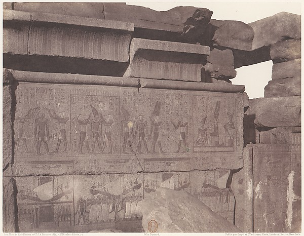 Karnak (Thèbes), Palais - Construction de Granit - Décoration Sculptée et Piente au Point R