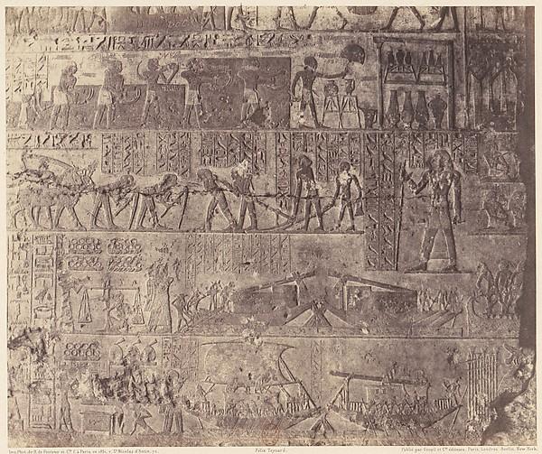 El-Kab (Éléthya), Architecture Hypogéenne - Tombeau de Phapé - Sculptures Pientes