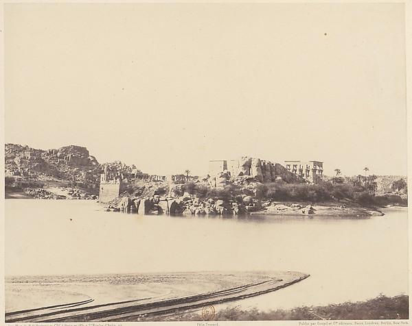 Ile de Fîleh (Philæ), Vue Générale Prise du Sud-Est au Point B
