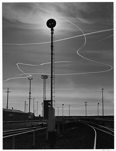 Rails and Jet Trails, Roseville, California