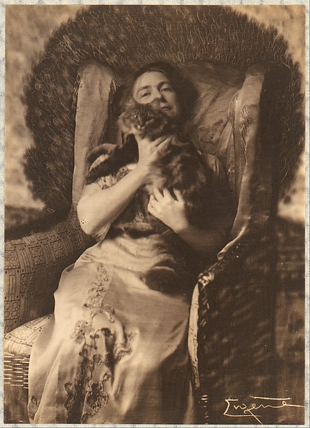 Miss Lilian C. Wiver with Her Angora