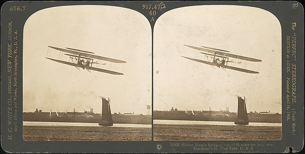 [Group of 3 Sterograph Views of Aviation, including the Wright Brothers]