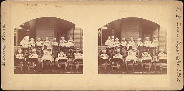 [Group of 55 Stereograph Views of Groups of Children]