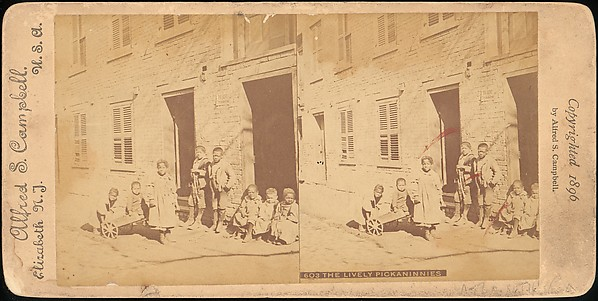[Group of 71 Stereograph Views of African-Americans and Early Black American Culture, including Colloquial Black Humor]