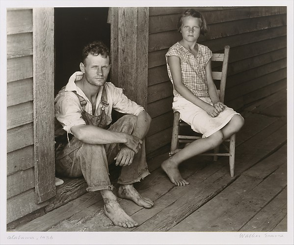 [Floyd and Lucille Burroughs on Porch, Hale County, Alabama]