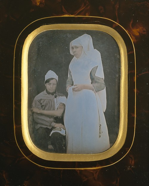Fascinating Historical Picture of Unknown with Soeur Pierrette Toussaine Blondeau Hospices de Beaune in 1845