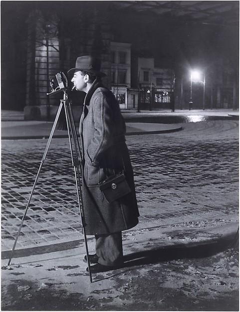 Brassaï Photographing, Boulevard Saint-Jacques