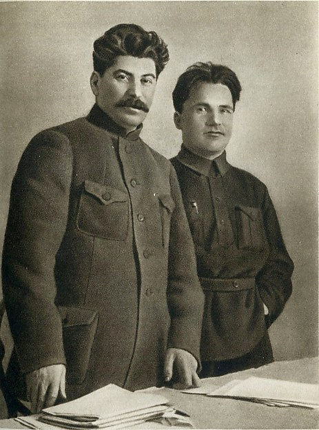 [Stalin and Sergei Kirov, 1926] in Joseph Stalin: A Short Biography (Moscow, 1949)