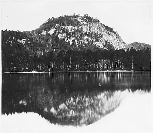 Cathedral Ledge, Reflected in Echo Lake, North Conway