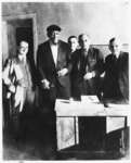[Jack Johnson, Heavyweight Champion, at Signing of Contract]