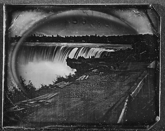 [View of Niagara Falls in Winter with Snow and Ice]