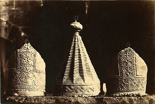 [Plaster Casts of Bishops' Miters, South Porch, Chartres]