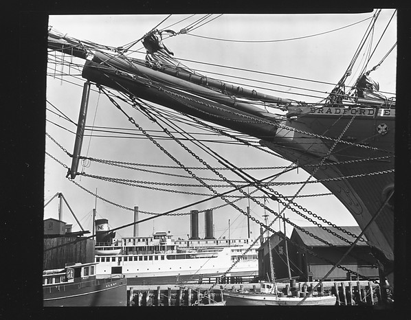 [Ship's Prow and Rigging, New Bedford, Massachusetts]