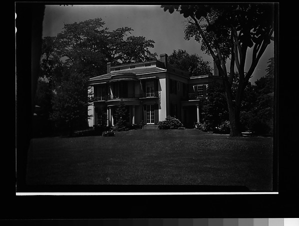[House with Cast-Iron Balcony and Rotunda Entry Porch, Cambridge, Massachusetts]